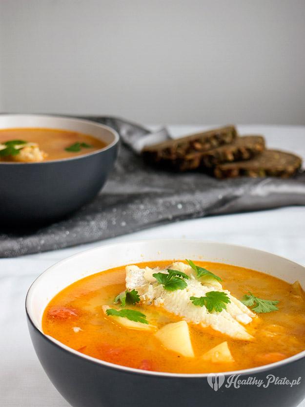 zupa rybna pomarańczowa