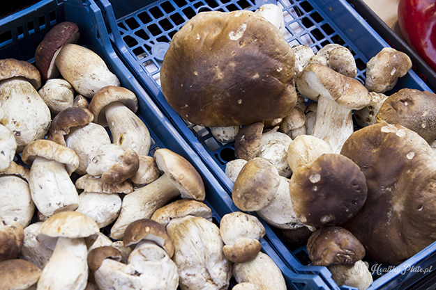 grzyby w Mercado San Blas, Logroño