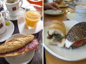 śniadanie na rynku w Barcelonie