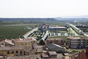 Widok z Briones na Vivanco